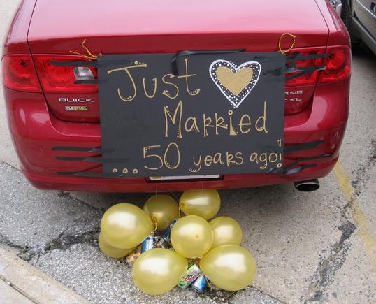 50 jaar getrouwd versiering