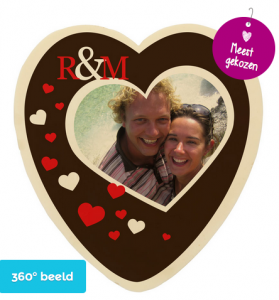 chocolade hart cadeau 25 jaar getrouwd