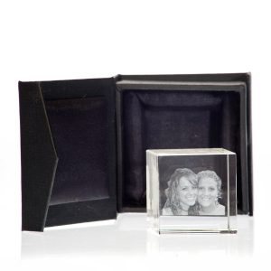 2D foto in glas - 80 x 80 x 80 mm