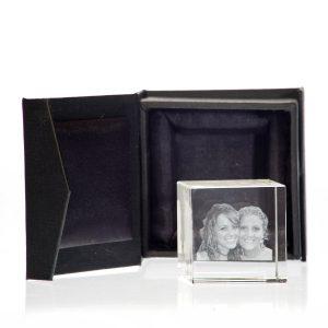 3D foto in glas - 80 x 80 x 80 mm