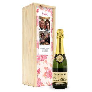 Champagne in bedrukte kist - René Schloesser (375ml)