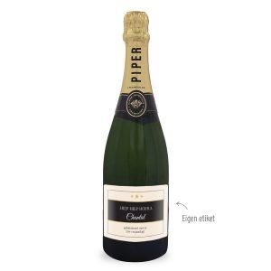 Champagne met bedrukt etiket - Piper Heidsieck Brut (750ml)
