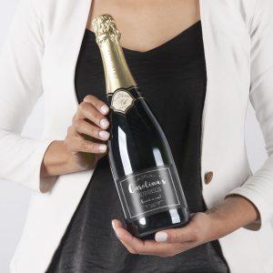 Champagne met bedrukt etiket - René Schloesser (750ml)